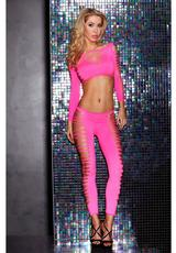 FIRE FLAME CROP TOP & PANT - PINK