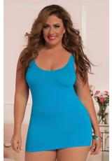 SEXY BACK-DRESS-TURQUOISE-X (DISC)