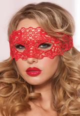 GALLOON LACE EYE MASK - RED - O/S Medium Front