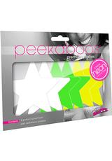NEON STAR 3PK - WHITE/GREEN/YELLOW