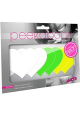 NEON HEART 3PK-WHITE/GREEN/YELLOW