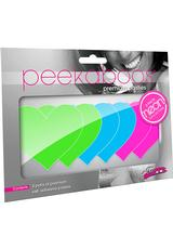 NEON HEART 3PK - GREEN BLUE PINK