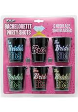 BRIDESBITCHES 6PC NECKLACE SHOTGLASS SET