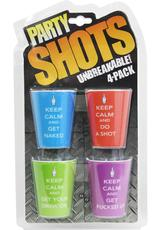 KEEP CALM 4 PIECE SHOT GLASS SET (DISC)