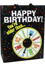 HAPPY B-DAY YOURE OLDER SPINNER GIFT BAG