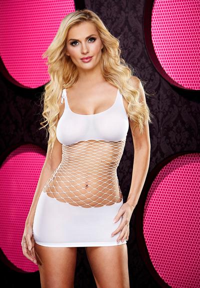 FENCENET MINI DRESS-WHITE Medium Front