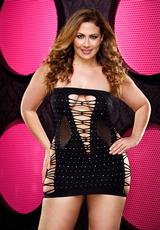 BLING BACKROOM MINI DRESS- BLK DIA PLUS
