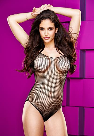 FISHNET TEDDY-BLACK Medium Front