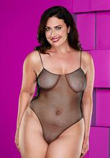 FISHNET TEDDY-BLACK-QUEEN Medium Front