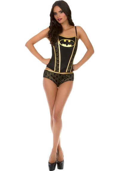 BATMAN PRINTED CORSET PANTY SET-LARGE Medium Front
