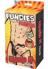 FUNDIES UNZIP IT THONG W/ MASK -O/S Medium Front