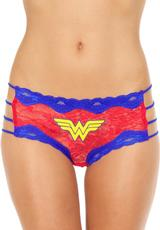 WONDERWOMAN LACE STRING HIPSTER PANTY-XL