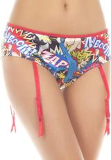 BAM/CRASH HEROES PANTY W/GARTER-MEDIUM