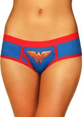 WONDERWOMAN BOYSHORT W/FOIL LOGO-SMALL