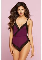 SHEER BLISS ROMPER-WINE-MEDIUM (DISC)