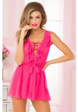 DREAMY BABYDOLL SET-PINK-LG/XL (DISC)