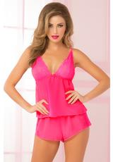 DREAMY CAMI SET-PINK-MEDIUM (DISC)