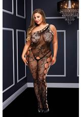 OFF THE SHOUDLER BODYSTOCKING-BLACK-Q