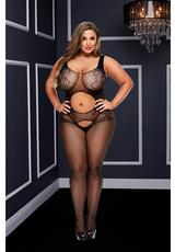 OPEN FRONT CROTCHLESS BODYSTOCKING-Q