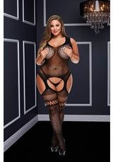 CROTCHLESS GARTER BODYSTOCKING-BLACK-Q