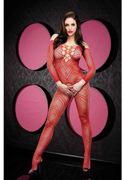 VIP LONGSLEEVE CROTCHLESS BODYSTOCKING-R Medium Front