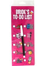 BRIDES TO DO LIST WIPE OFF CHECKLIST