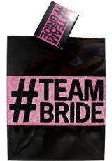TEAM BRIDE GLITTER GIFT BAG