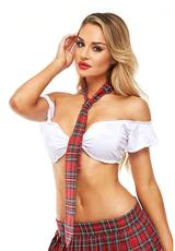 SCHOOLGIRL TIE-RED-ONE SIZE