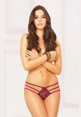 LACE OPEN CROTCH BIKINI - SMALL (DISC)