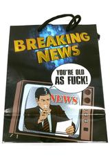 OTH BREAKING NEWS FOIL GIFT BAG