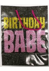 BD BIRTHDAY BABE GLITTER EMBELLISHED BAG