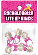 LITE UP PINK RINGS 6 PK BACHELORETTE