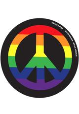 RAINBOW PEACE SIGN 3 INCH BUTTON