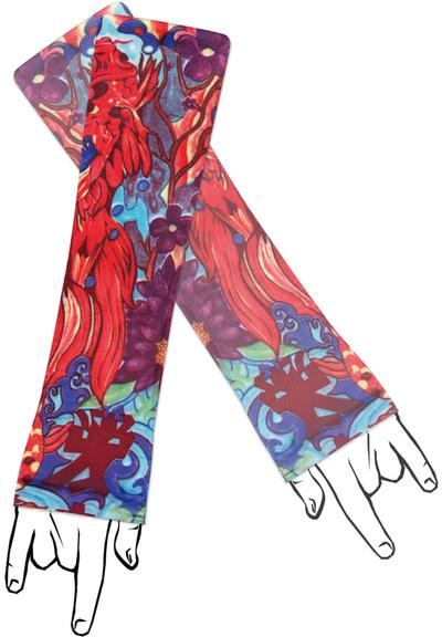 TATTOO SLEEVE COLORFUL KOI Medium Front