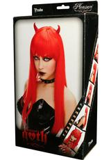 PRADA WIG - RED W/ HORNS (DISC)