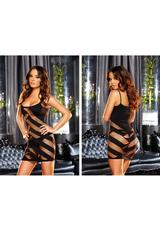 FEATURE DANCE MINI DRESS-BLACK Medium Back