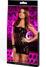 TABLE DANCE MINI DRESS-BLACK