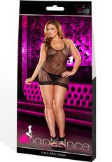 LACE MINI DRESS - BLACK-PLUS