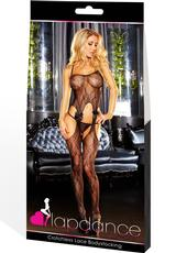 CROTCHLESS LACE BODYSTOCKING-BLACK