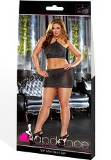 VIP MINI SKIRT SET - BLACK-PLUS