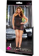 VIP MINI DRESS - BLACK METALLIC-PLUS
