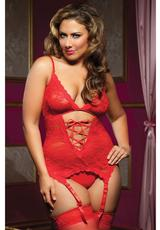 MIDNIGHT AFFAIR 3PC CAMI - RED - Q/S