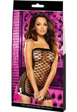 XTC DIAMOND NET MINI DRESS-BLACK