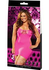 CASH CAGE MINI DRESS-PINK-PLUS