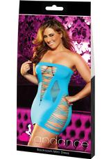 BACKROOM MINI DRESS-BLUE-PLUS
