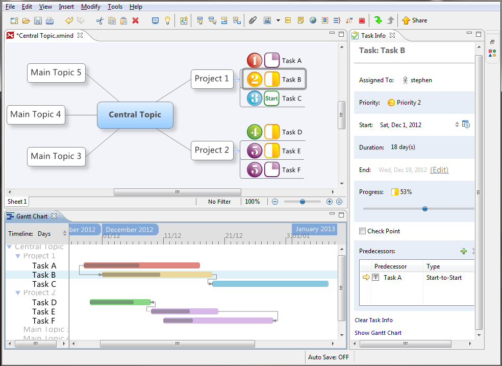 Xmind Blog Manage Projects With Improved Taskinfo And Gantt View