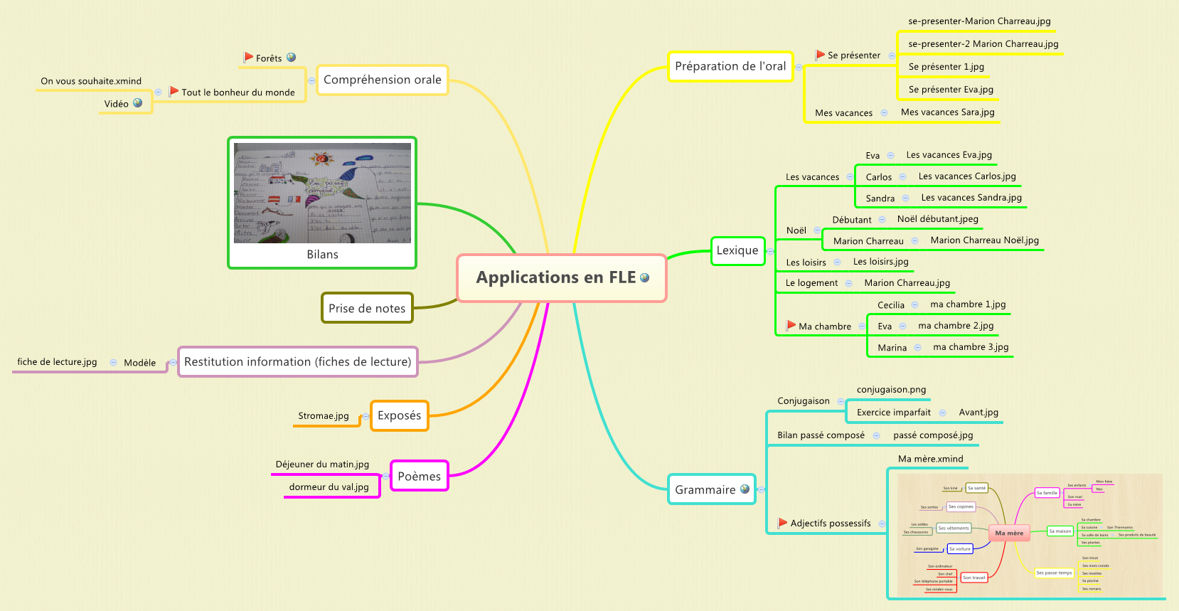 Applications en FLE