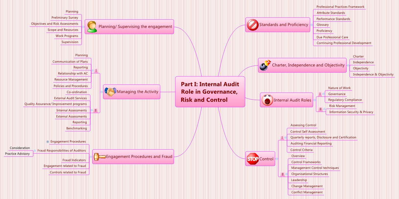 Part I Internal Audit Role In Governance Risk And Control Xmind