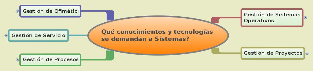 Qué conocimientos y tecnologías          se demandan a Sistemas?