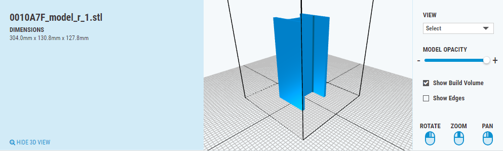 z-height horizontal